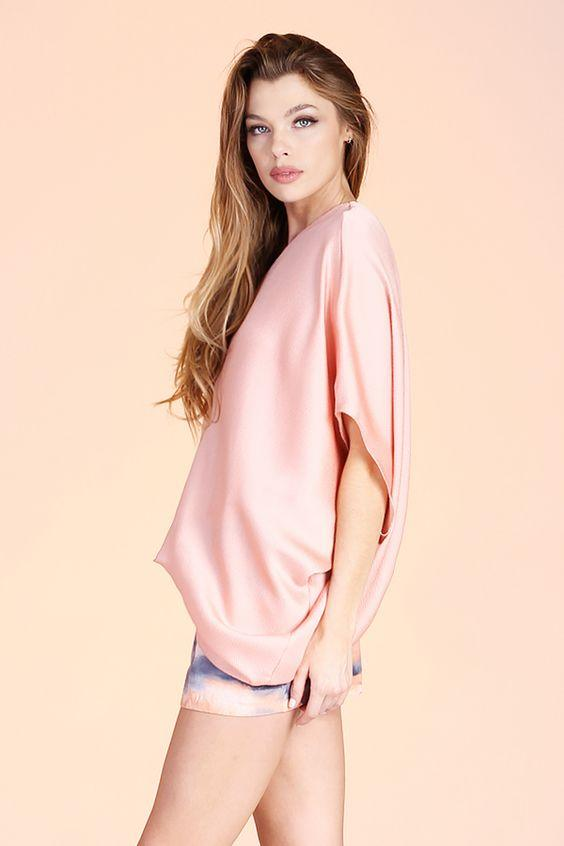 Adena One Shoulder Top - Peach