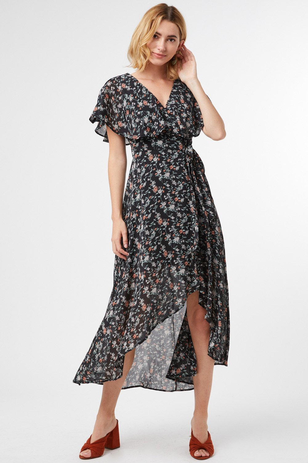 Adalee Floral Wrap Maxi Dress