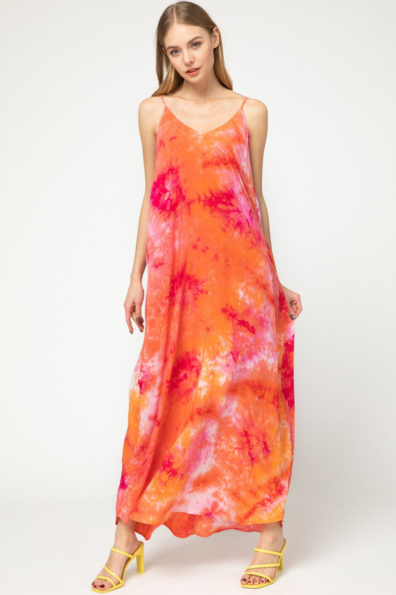 Thalia Tie-Dye Maxi Dress