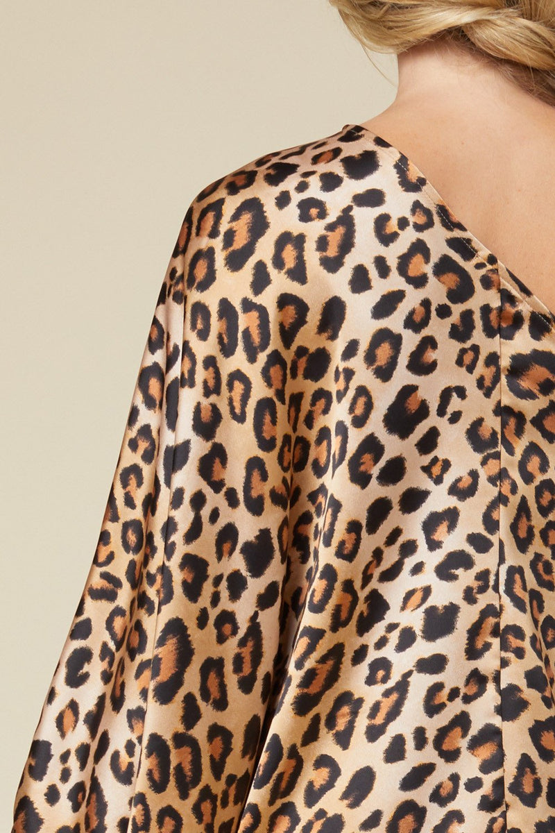 Allison Leopard Print One-Shoulder Top