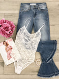 Celeste Lace Bodysuit - White