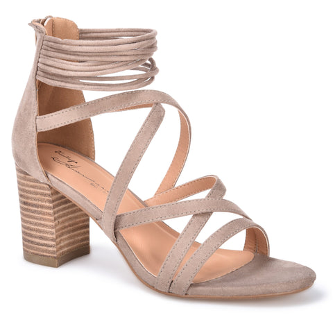 Kimmy Strappy Block Heel Sandal - Taupe