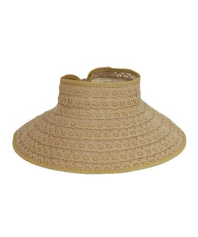 Cory Wrap Visor Straw Hat