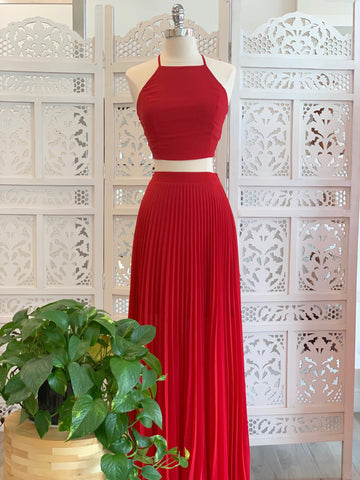 Maria Elena Crop Top & Matching Pleated Maxi Skirt