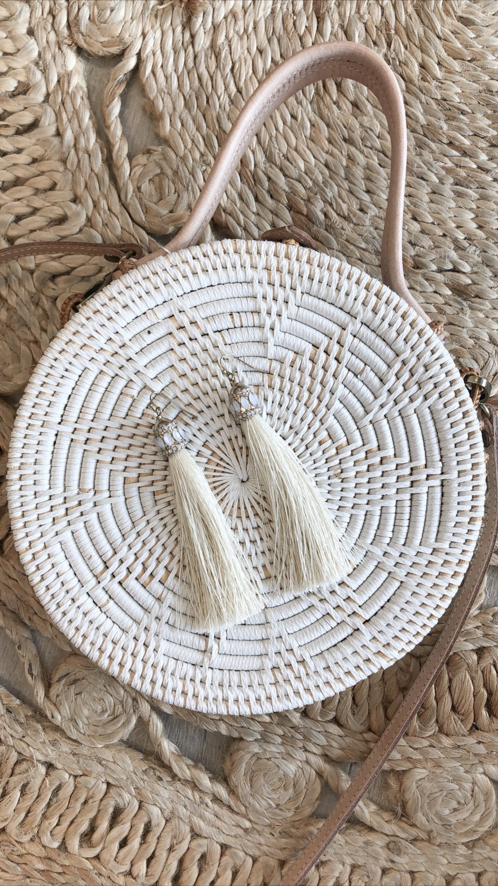 Emery Tassel Earrings - Ivory