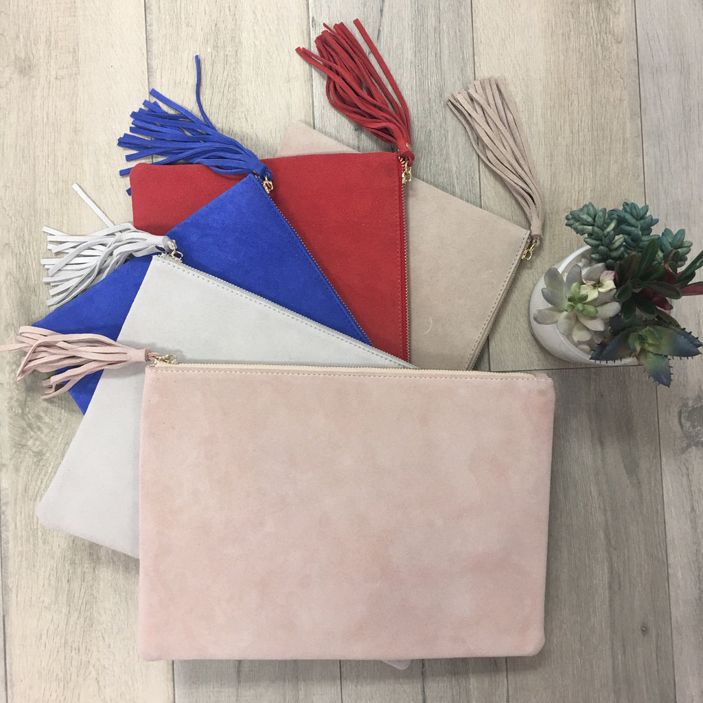Jasmine Tassel Clutch - 6 Colors
