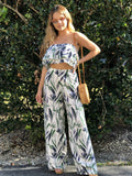 Izzy Ruffle Leaf Top & Pant Set
