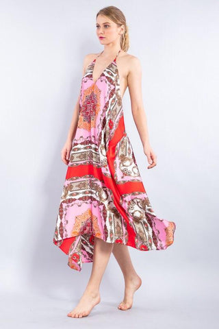 Aisha Silky Scarf Dress