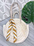 Key Largo Straw Cirlcle Bag - Natural