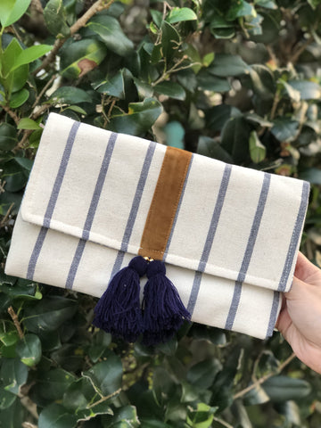 Bimini Tassel Fabric Clutch