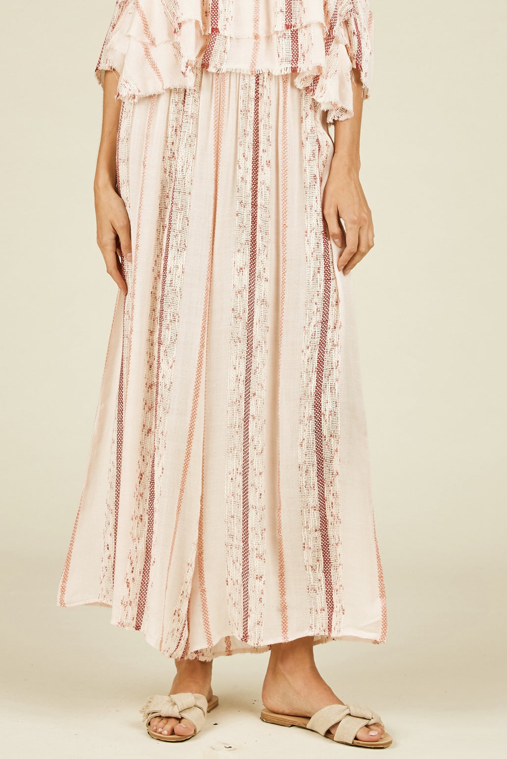 Hasley Textured Wide Leg Pants