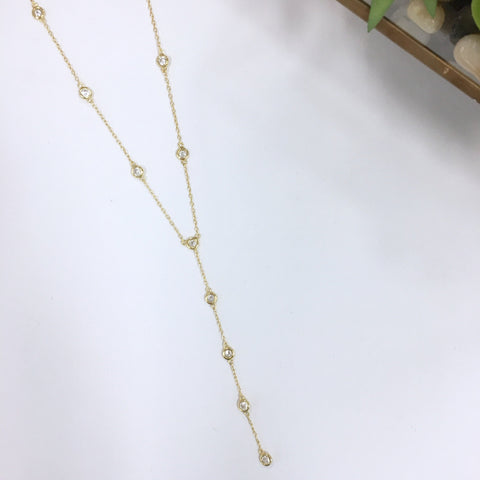 Sadie Diamond By The Yard Gold-filled Lariat - Gold
