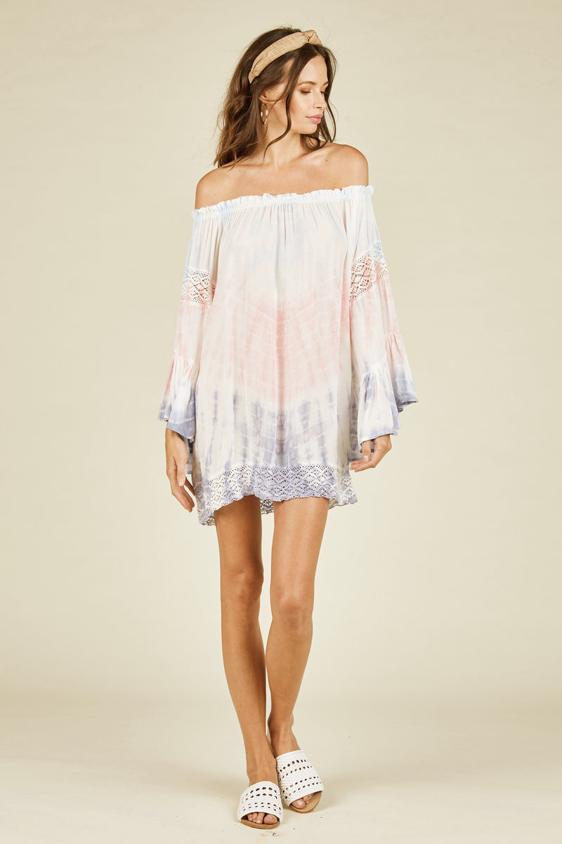 Brena Off Shoulder Coverup/Tunic - Mauve
