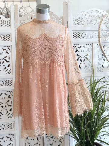 Francesca Bell Sleeve Lace Dress