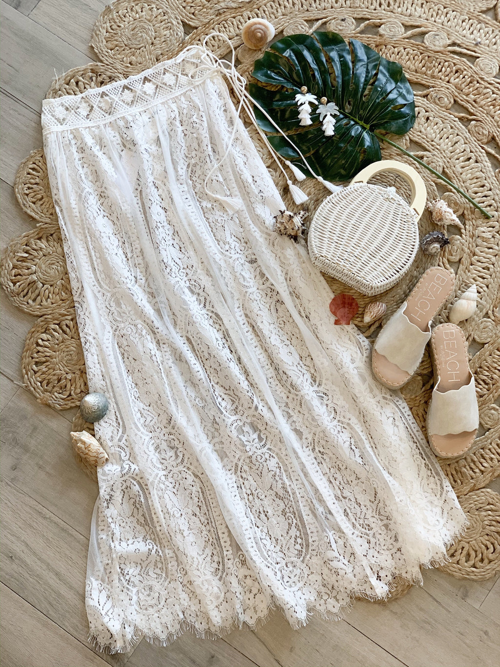 Gabby Lace Cover-Up Wrap Skirt