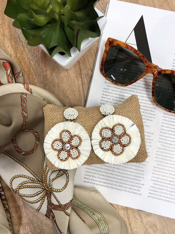 Ninette  Beaded Flower Earrings