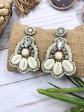 Brisa Beaded Sea Shell Earrings
