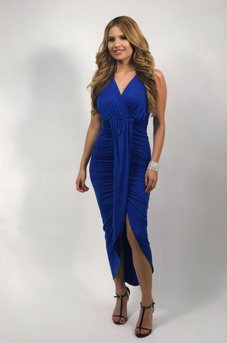 Julianne Halter Tulip Dress - Royal Blue