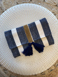 Cozumel Tassel Fabric Clutch