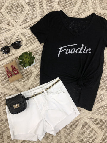 """Foodie"" Graphic Tee - Black"