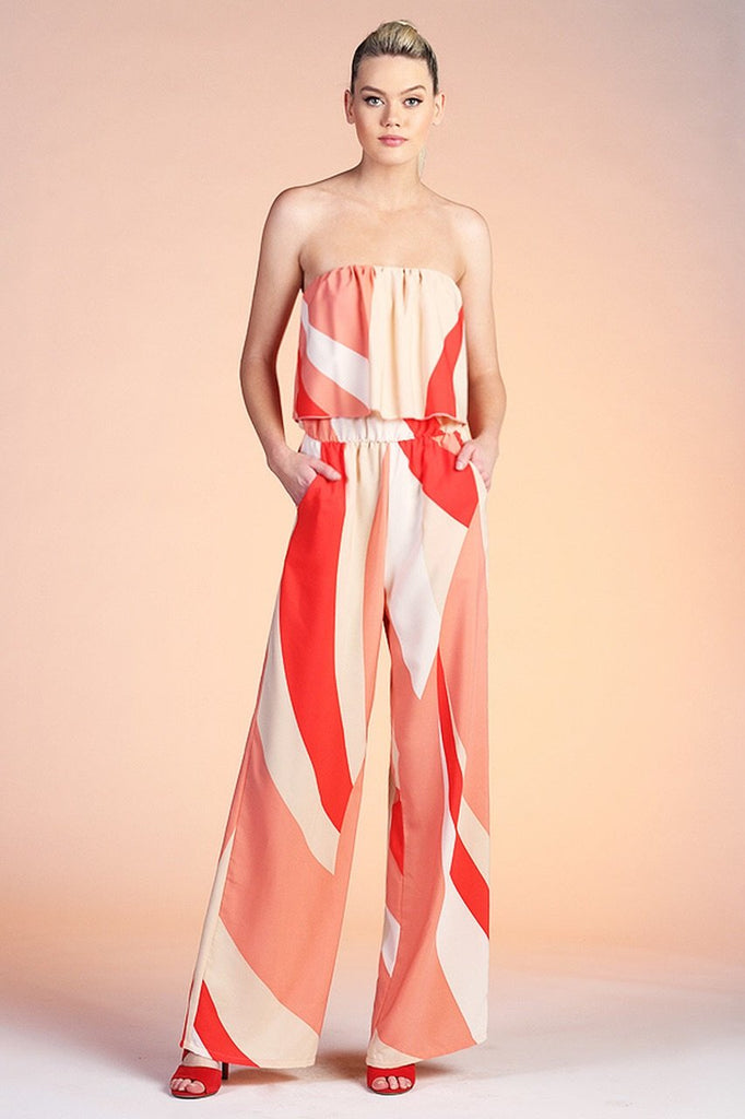 Analise Strapless Wide Leg Jumpsuit