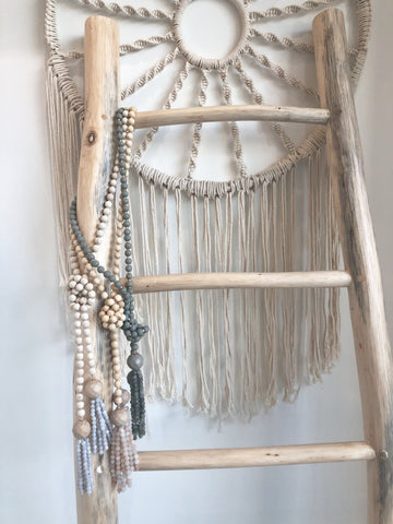 Alannah Wood Tassel Necklace