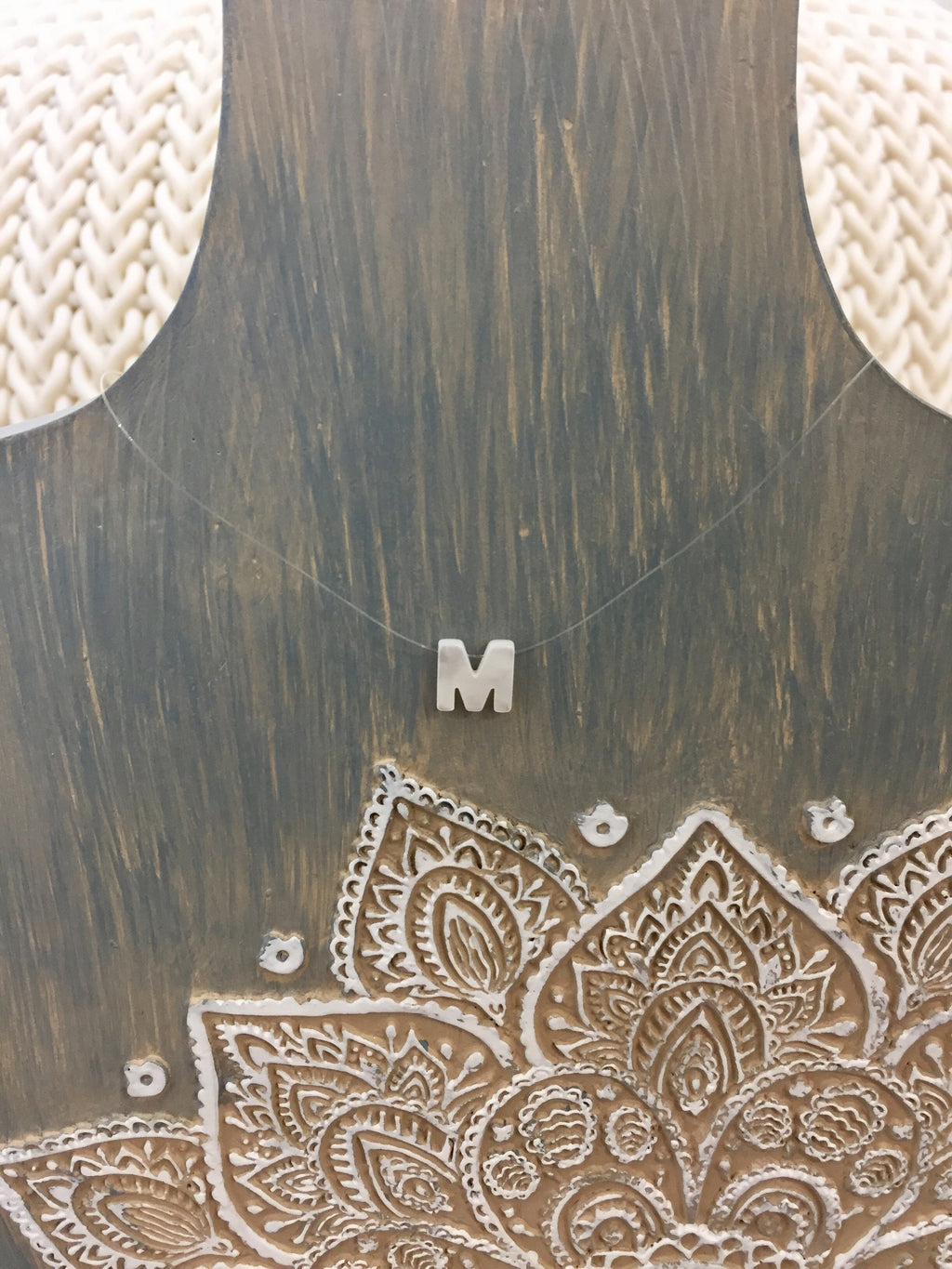 Bella Mother Of Pearl Monogram Necklace