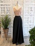 Elena Satin Maxi Skirt - Black