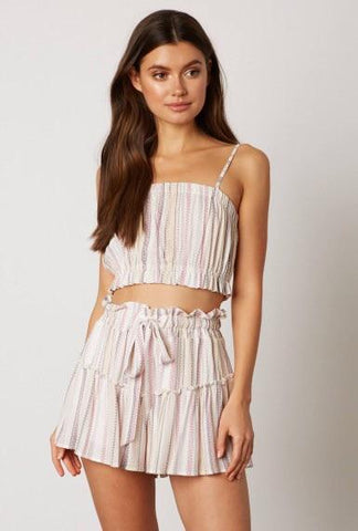 Frankie Crop Top & Matching Flowy Shorts Set