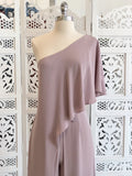 Alyssa One Shoulder Jumpsuit - Mauve