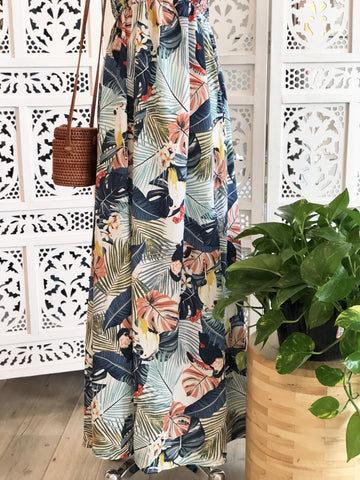 Loretta Tropical Off Shoulder Maxi Dress