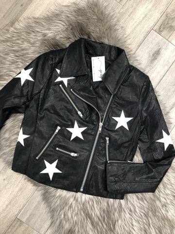 Roxanne Star Leather Jacket