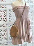 Sammy Smocked Mini Dress - Blush