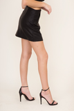 Samantha Faux Leather Mini Skirt