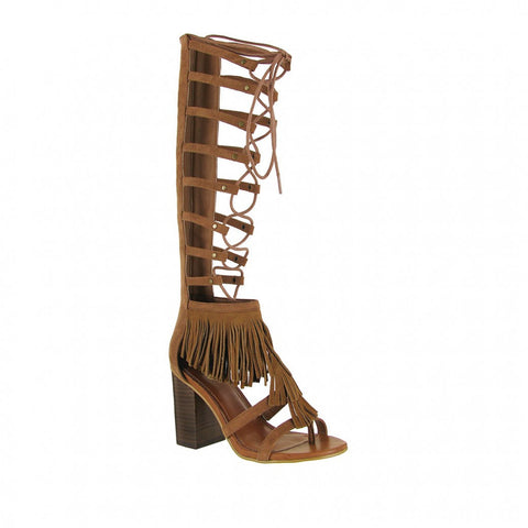 Mia Ricarda Heeled Lace-Up Gladiator Sandal