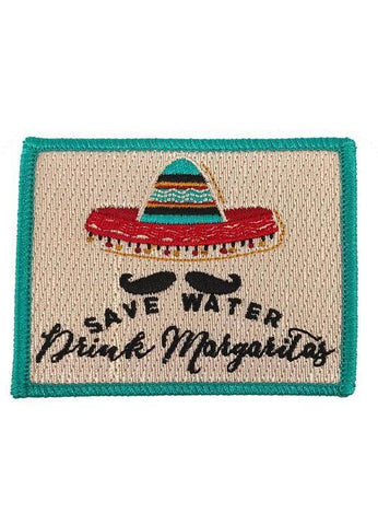 Save Water Drink Margaritas Patch - Red