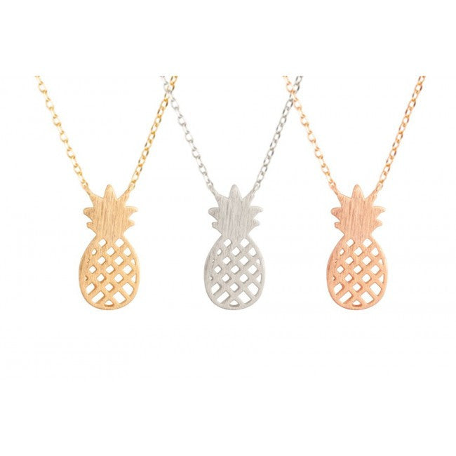 Textured Pineapple Necklace