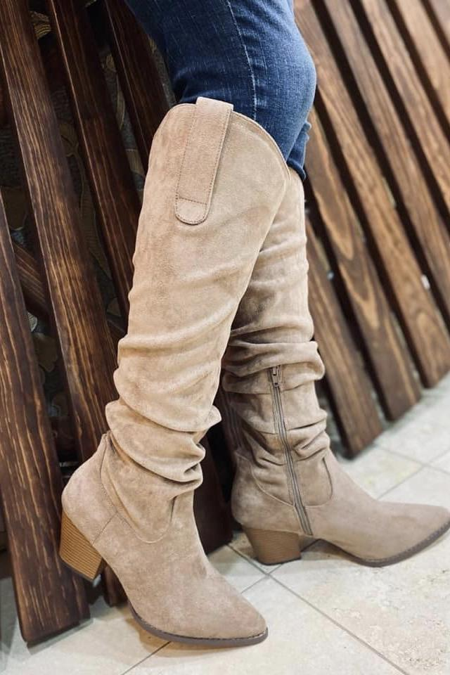 Delilah Tall Boots -Taupe