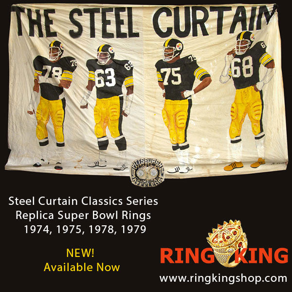 Pittsburgh Steelers Steel Curtain Super Bowl Replica Ring Set For Years 74 75 78 79