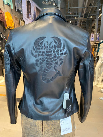 Scorpion Black Leather Jacket