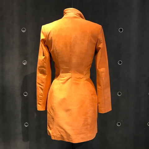 Orange Suede Coat and Dress