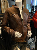 Brown Suede Leather Men's Jacket