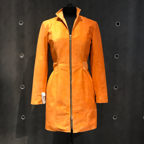 Orange Suede Jacket Dress