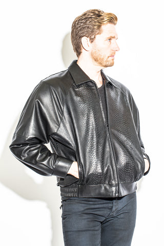 Men's Black Label Collection Bomber Jacket