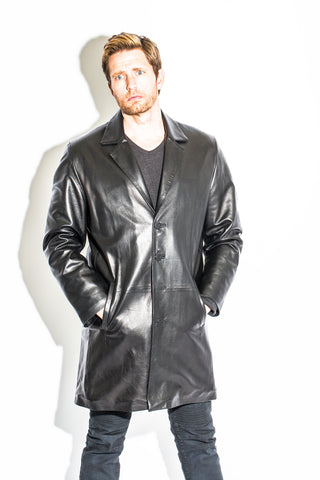 Men's Black Label Collection 7/8's Length Coat