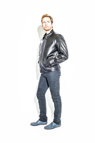 Men's Black Label Leather French Jacket