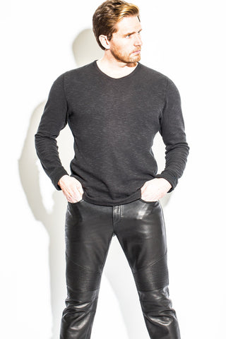 Men's Leather Racer Pant