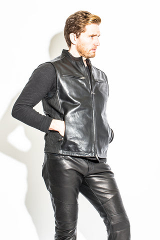 Men's Vintage North Beach Leather Drip Jacket
