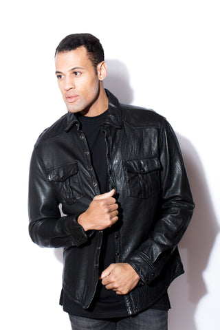 Men's West Coast Leather Snap Shirt