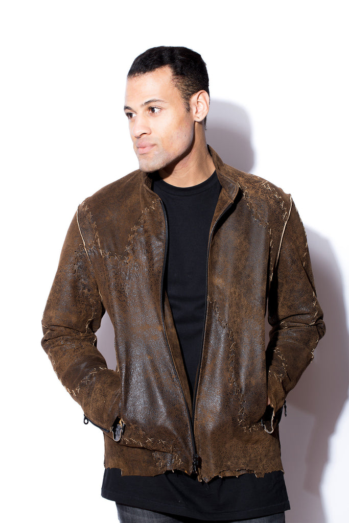 Brown distressed leather jackets for men recommendations to wear for winter in 2019
